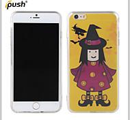bruja de halloween serie pattern pintura TPU para iPhone6 más