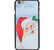 Christmas Style Santa New Year Pattern PC Hard Back Cover for iPhone 6 Plus