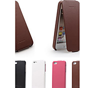 Genuine Leather Litchi Pattern up and Down Flip Phone Protective Shell for iPhone 5/5S
