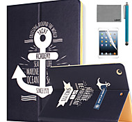 LEXY® Sailing Diary Pattern PU Leather Flip Stand Case with Screen Protector and Stylus for iPad Air 2/iPad 6