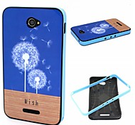 2-in-1 Dandelion Wish Floor Phrase Pattern TPU Back Cover + PC Bumper Shockproof Soft Case For Sony E4
