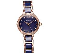 kimio® marque femmes Fleur strass cas montres à quartz en céramique