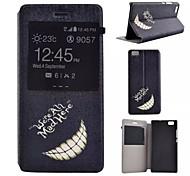 peinte cas de téléphone PU pour Huawei p8 Lite