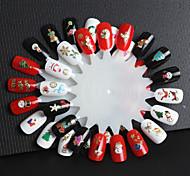 6 PCS Golden Christmas Series Nail Sticker  Random Color