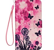 Black Butterfly Painted PU Phone Case for iphone5/5S