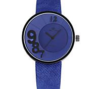 relógio da mulher folha de europeus e americanos personalidade populares jean imitação digital de silicone neutro