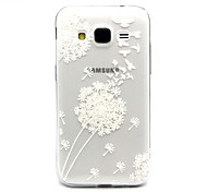 White dandelion Pattern TPU Relief Back Cover Case for Galaxy Core Prime/G360
