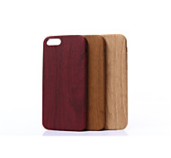 Wood Grain PU Character Following from Mobile Phone Protection Shell for IPHONE 5/5S(Assorted Colors)