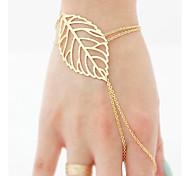 Women Fashion Bracelet European Style Leaf Ring Bracelet