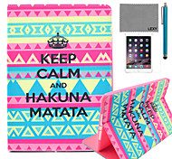 LEXY® Calm Tribal Carpet Pattern PU Leather Flip Stand Case with Screen Protector and Stylus for iPad Air 2/iPad 6