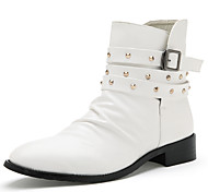Men's Shoes Outdoor / Athletic / Casual Leather Boots Black / White