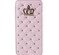 Diamond Crown Bling PU Leather Flip with Stand and Card Holder Case Cover for iPhone 6/iPhone 6s(Assorted Colors)