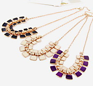 Charm Square Choker Necklace Jewelry Chain Pendant