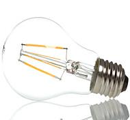 hry® a60 4w e27 400lm 360 grados cálida luz de filamento / frío color blanco edison llevó la lámpara de filamento (ac85-265v)