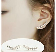 Women's Fashion Big Dipper Zircon Pearl Earrings