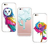 maycari® Aquarellmalerei transparente TPU Tasche für iPhone 6plus / iphone 6s Plus