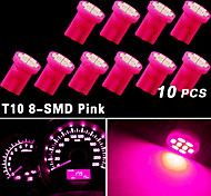 10X Purple Pink Wedge Side T10 8SMD LED Speedometer Instrument Light 192 194 168