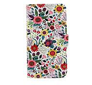 chrysant patroon pu lederen tas met standaard voor de Samsung Galaxy S3 mini i8190 / S4 mini i9190 / S5 mini