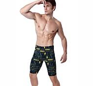 Cartoon Adult Print Newest Pattern Knee Length Swimming Jammer Men Lycra swimming pants L.XL.2XL.3XL