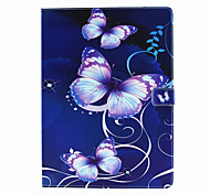 Purple Butterfly Pattern PU Leather Full Body Case With Stand for iPad Pro
