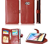 les détenteurs de portefeuille de trésorerie fente + + cadre photo en cuir magnétique cas de téléphone pour Samsung Galaxy S4 / S5 / S6 /