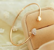 Jewelry Diamond Crystal Bangle Openings Gold Plated Bracelet