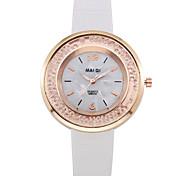 GENEVA Fashion Style Women Leather Band Quartz Wristwatch