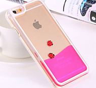 Deluxe Happy Fish Swimming Liquid PC Transparent Hard Back Cover for iPhone 6 Plus/6S Plus(Assorted Colors)