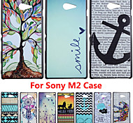 Hot Selling Painting Hard Cover Case For Sony Xperia M2 S50h Back Clear Printing Cases PC Plastic Covers