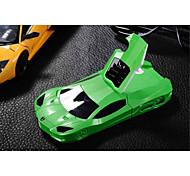 fraîche cas de téléphone sports de course forme de voiture en plastique dur de cas de stand arrière couverture pour iPhone 4 / 4S (de