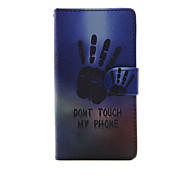 Palm Of Your Hand Design PU Leather Full Body Case with Stand and Card Slot for Sony Xperia M4 Aqua