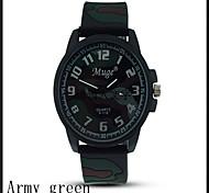 Men  Fashion Quartzr Silicone Wrist Watch