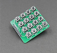 MCU Extension 4 x 4 16-Key Matrix Keyboard Module for Arduino (Works with Official Arduino Boards)