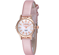Women's Lovely Small And Exquisite Round Dial PU Band Quartz Analog Water Resistant  Wrist Watch(Assorted Color)
