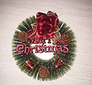 Christmas Pine Needles Wreath(Red)