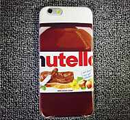 maycari® o delicioso de chocolate macio TPU transparente de volta caso para iphone 6s 6plus / iphone mais