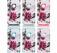 Lotus patterns High Quality Snap-on PC + Silicone Hybrid Combo Armor Case Cover for iPhone 6 Plus(Assorted Color)