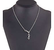 Double 8 Pendant Multilayer Necklace