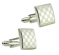 Digital Square Lattice Men Cufflinks