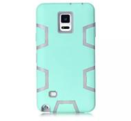 c section triple lumière verte cas TPU et PC Phone pour Samsung Galaxy Note 3/4 (couleurs assorties)
