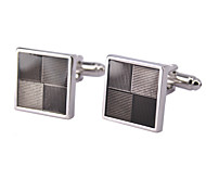 Men's Cufflinks Horizontal Grid Design