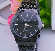 L.WEST Men's Steel Belt Quartz Pointer Watch Wrist Watch Cool Watch Unique Watch