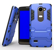 Plastic and TPU 2 in 1 Case Cover with Stand Armor Back Case Shockproof  for LG Leon C40