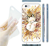 MAYCARI® A Noble Aectic Fox Transparent Soft TPU Back Case for iPhone 6/iphone 6S