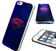 iPhone 6 Case Marvel Superman Mirror Back Blue Cover Case Free with Headfore HD Screen Protector for iPhone 6