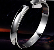 moda minimalista apertura cóncava brillante mil pulsera de plata fina S999