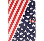 la bandiera disegno cuoio dell'unità di elaborazione caso corpo americano con stand e carta slot per Mini iPad 4