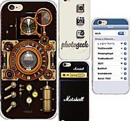 TPU caso de volta maycari® do vintage e moda estilo transparente macio para iphone 6s 6 / iphone (cores sortidas)