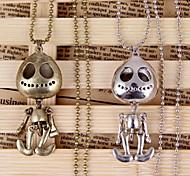 Skull Pendant Chain Long Choker Sweater Necklace