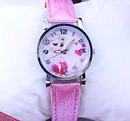 Children's Frozen Elsa Pattern Dial PU Band Quartz Cute Cartoon Wrist Watch Cool Watches Unique Watches Fashion Watch